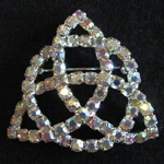 More about AB Rhinestone Trinity Knot Brooch