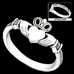 More about Sterling Silver Irish Claddagh Ring: Size 12