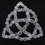 More about Clear Rhinestone Trinity Knot Brooch