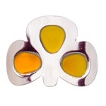 More about Coloured Shamrock Buckles: Gold