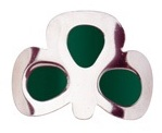 More about Coloured Shamrock Buckles: Green